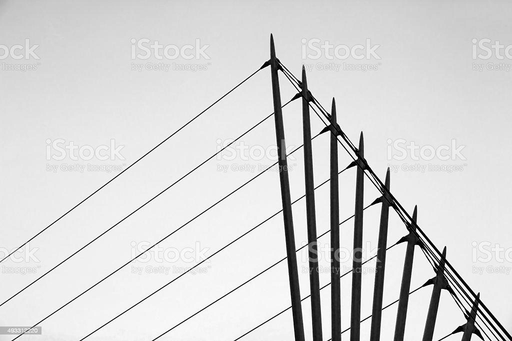 Modern Bridge Salford Quays Manchester stock photo