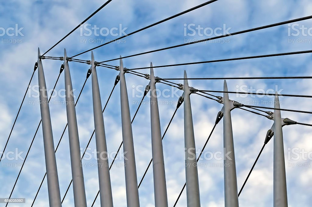 Modern Bridge Salford Quays Manchester stock photo