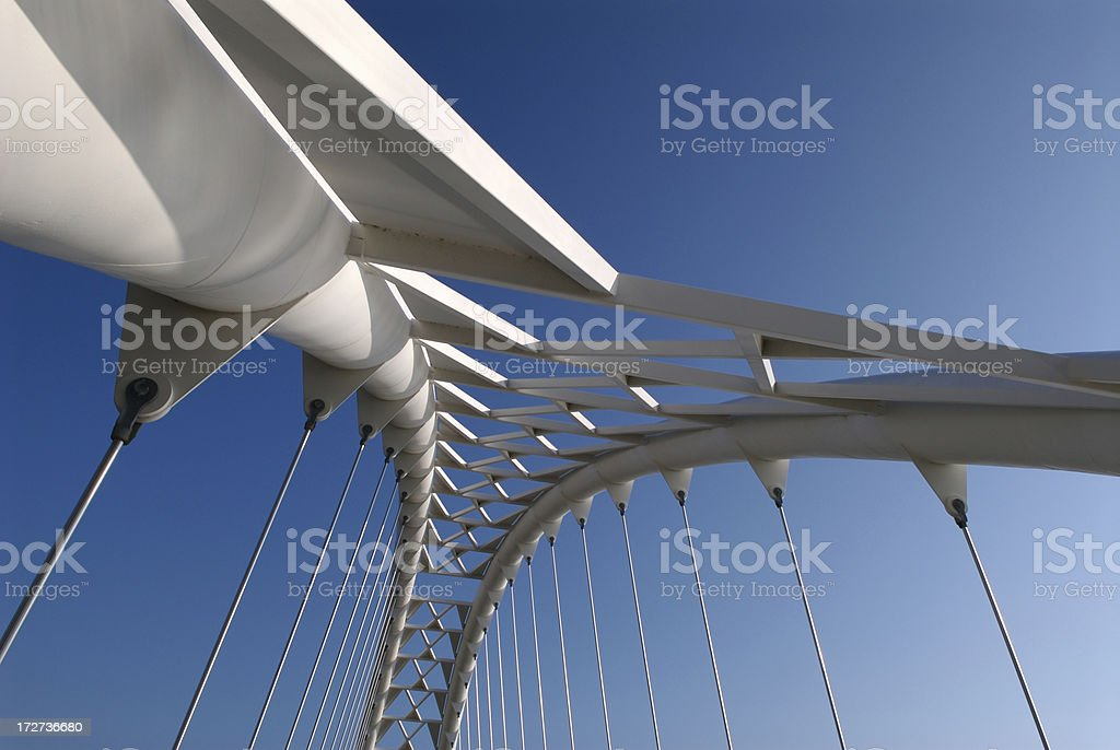 Modern Bridge Structure royalty-free stock photo