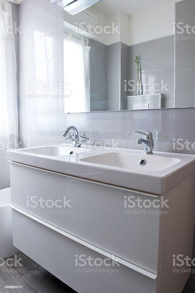 Modern Bright Clean Bathroom stock photo