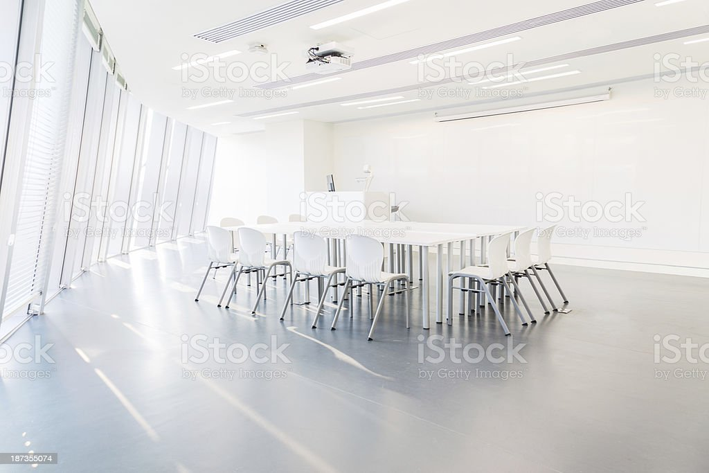 Modern Bright Conference Room stock photo