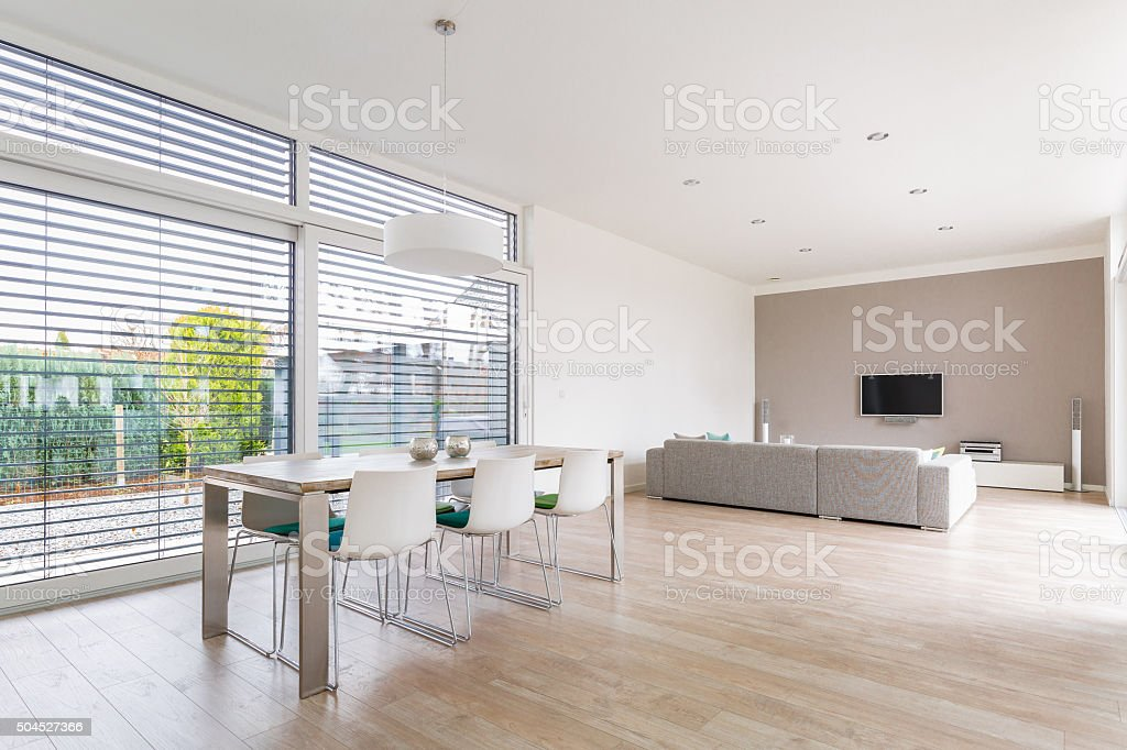 Modern bright Dining-Room stock photo