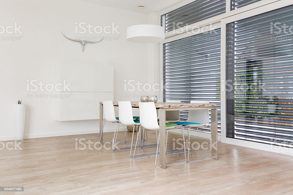 Modern bright Dining-Room stock photo
