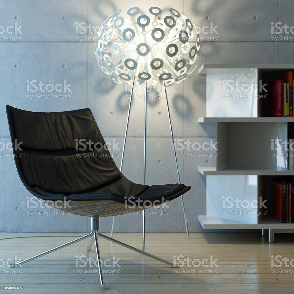 Modern bright interior royalty-free stock photo