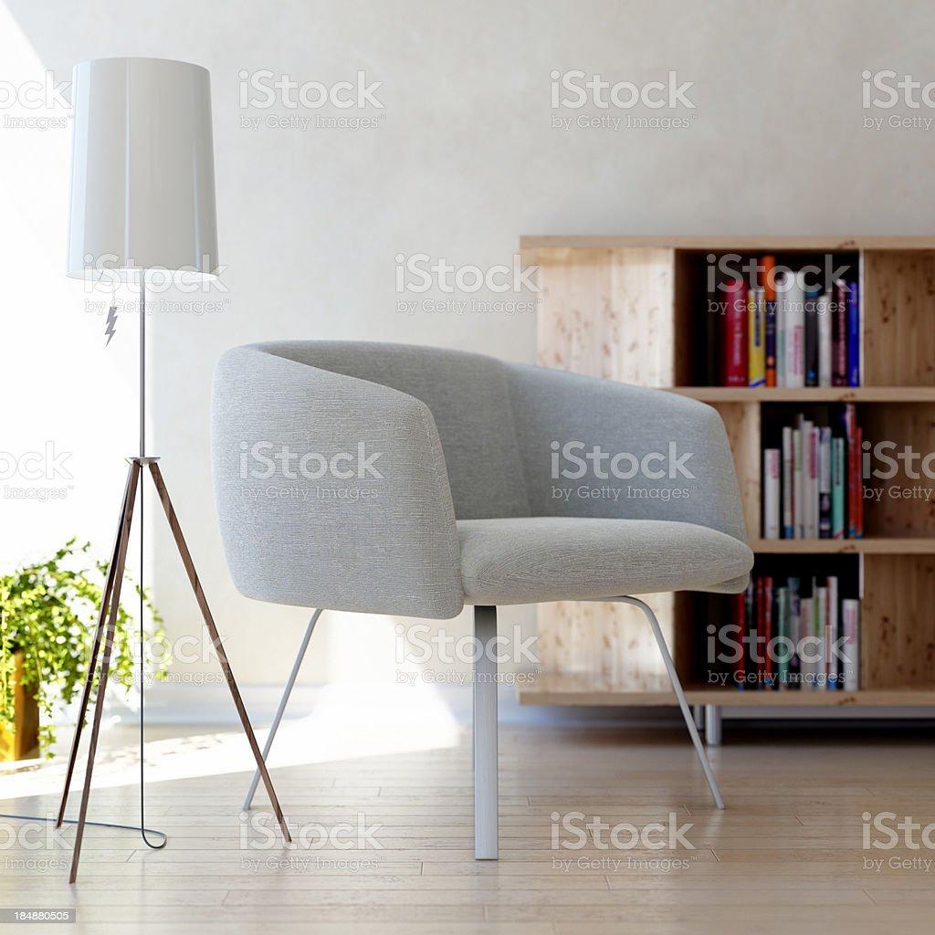 Modern bright interior stock photo