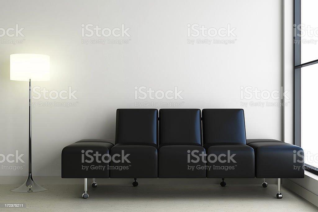 modern bright interior render (CGI) royalty-free stock photo