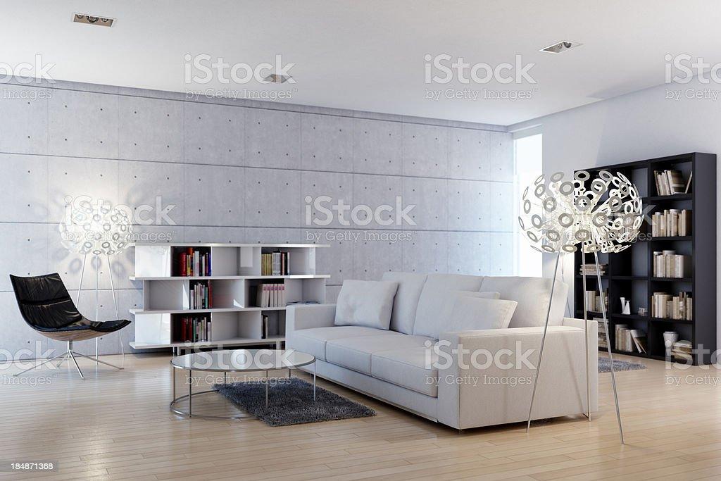 Modern bright livingroom stock photo