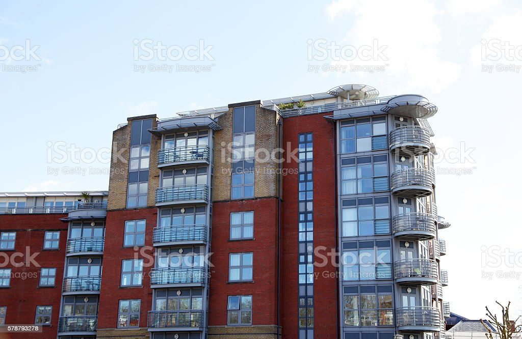 Modern Bristol apartment block stock photo
