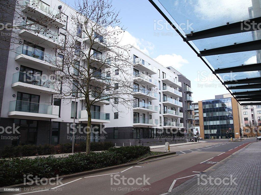 modern Bristol apartments stock photo