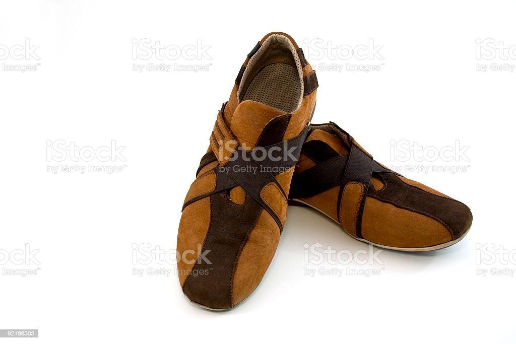 Modern Brown Sports Shoes royalty-free stock photo
