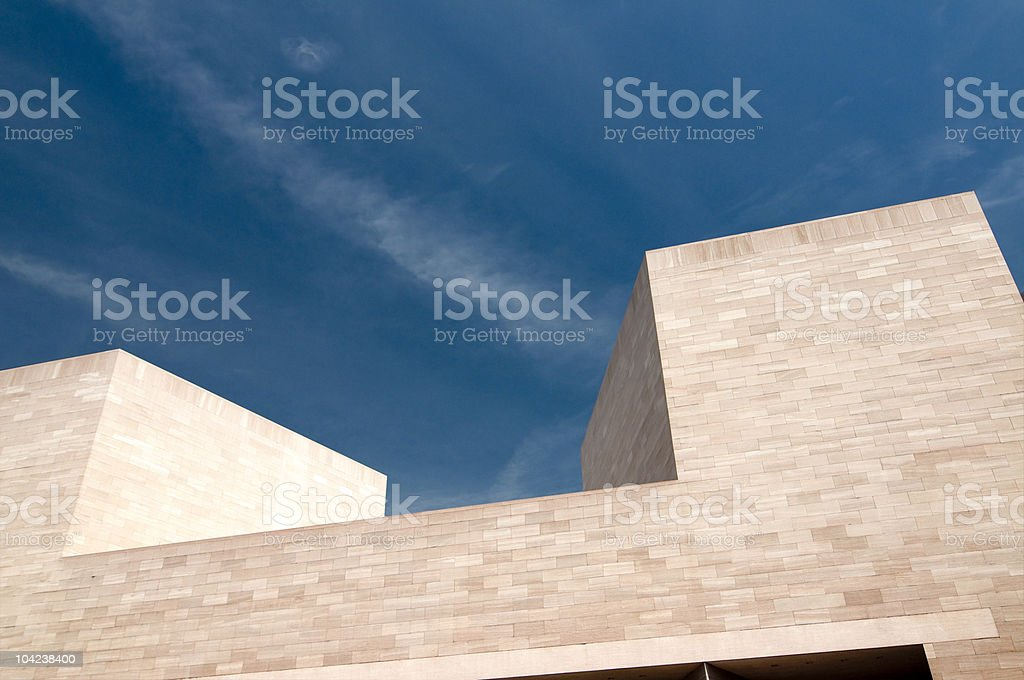 Modern Building Abstract--National Gallery of Art stock photo