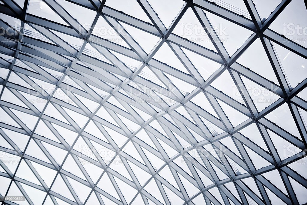 Modern building: Ceiling royalty-free stock photo