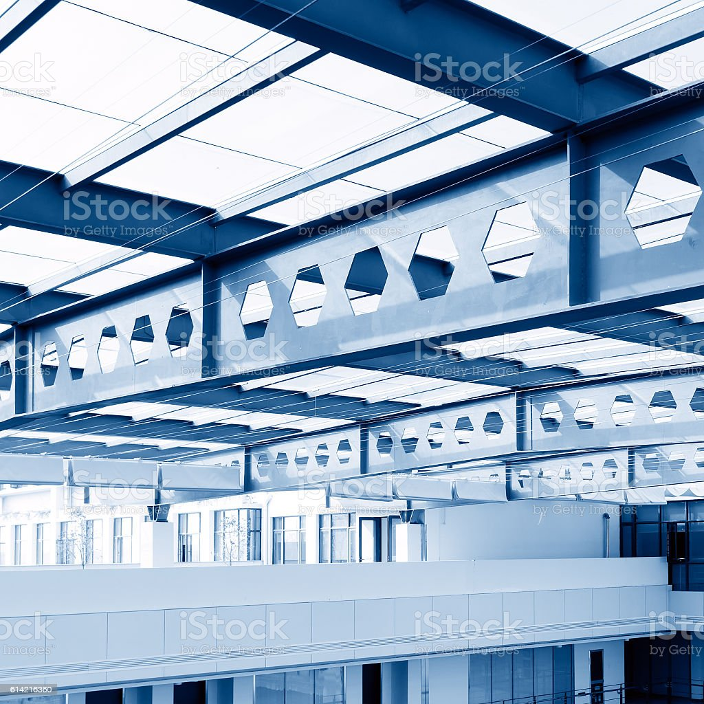 Modern building ceiling stock photo