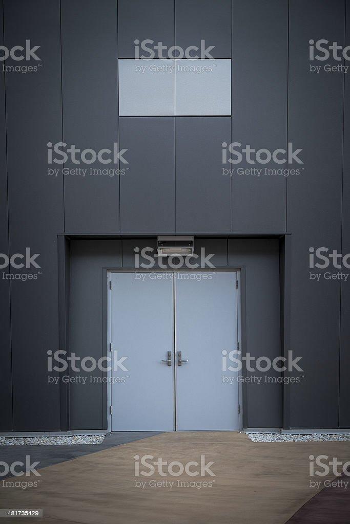 modern building closed door stock photo