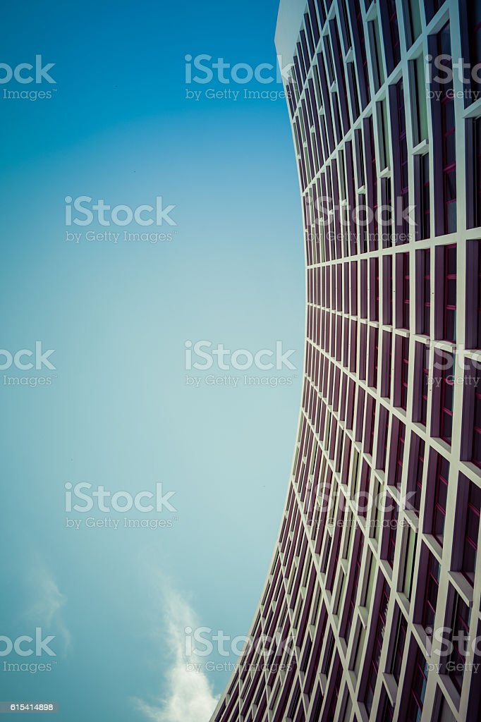 Modern building concave stock photo