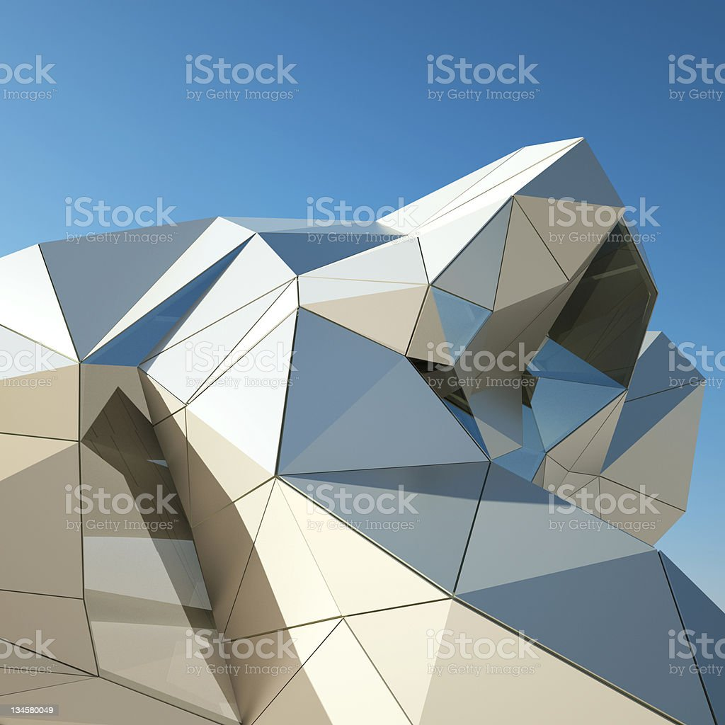 Modern building downtown, 3d rendering image royalty-free stock photo