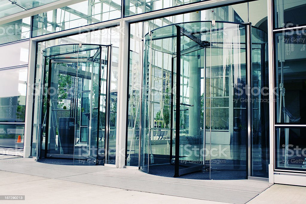 Modern building entrance stock photo