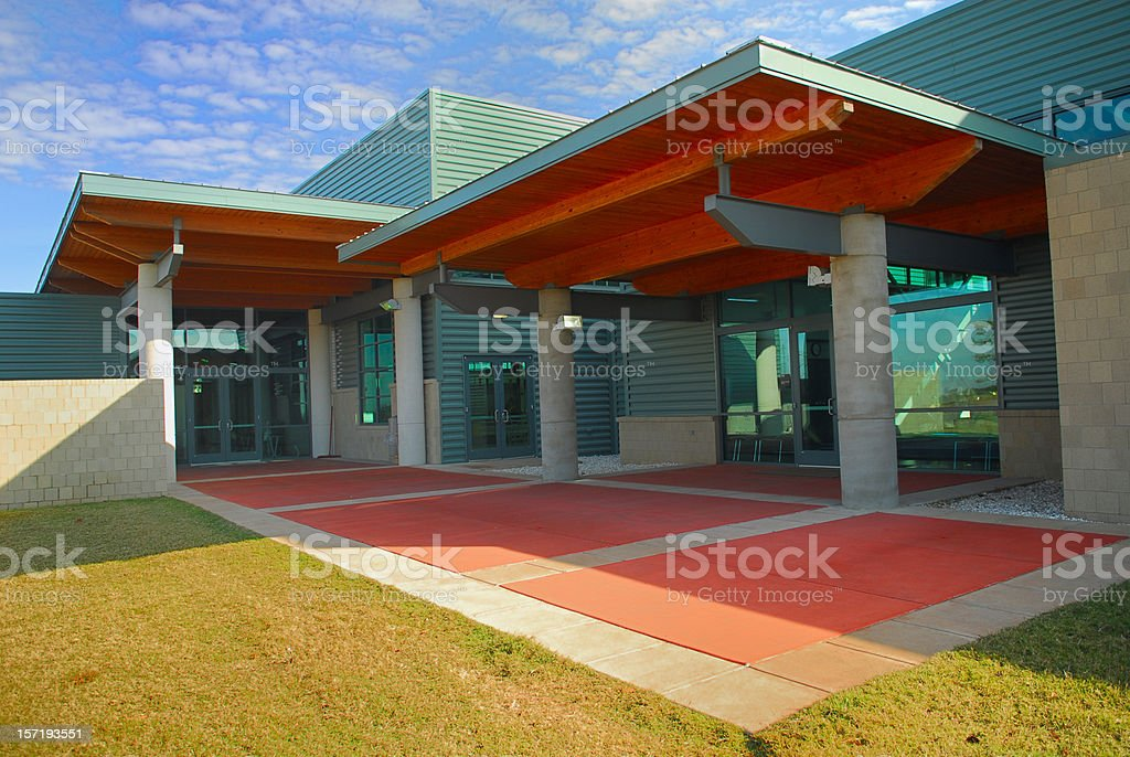 Modern Building Entry stock photo
