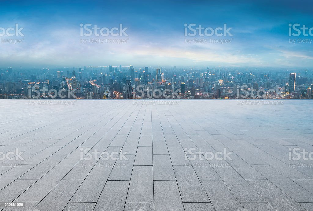 Modern building exterior with Modern architecture platform stock photo
