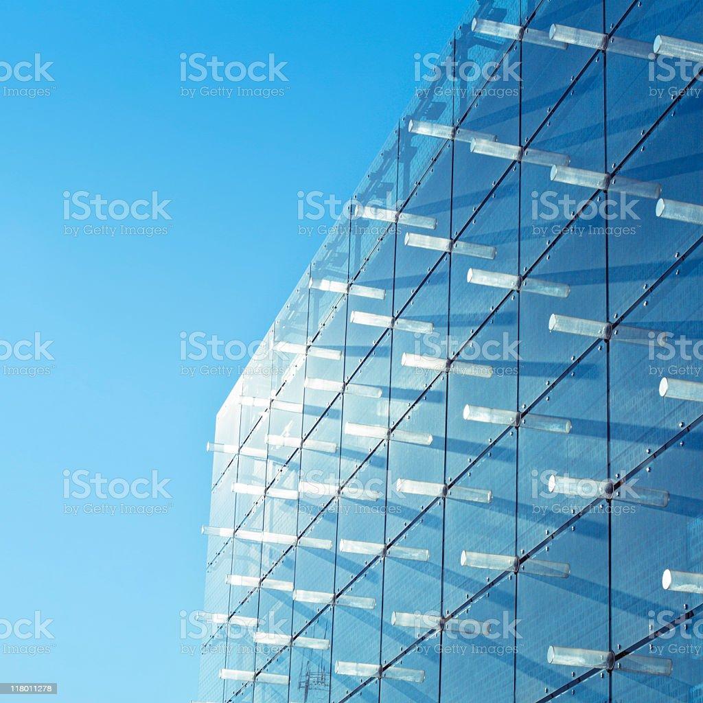 Modern building facade made of glass stock photo