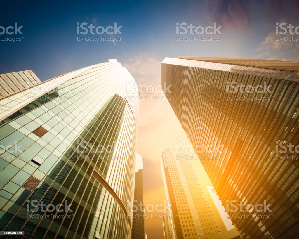Modern building from low angle view stock photo