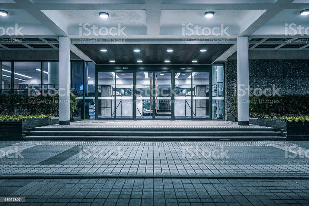 modern building gate stock photo