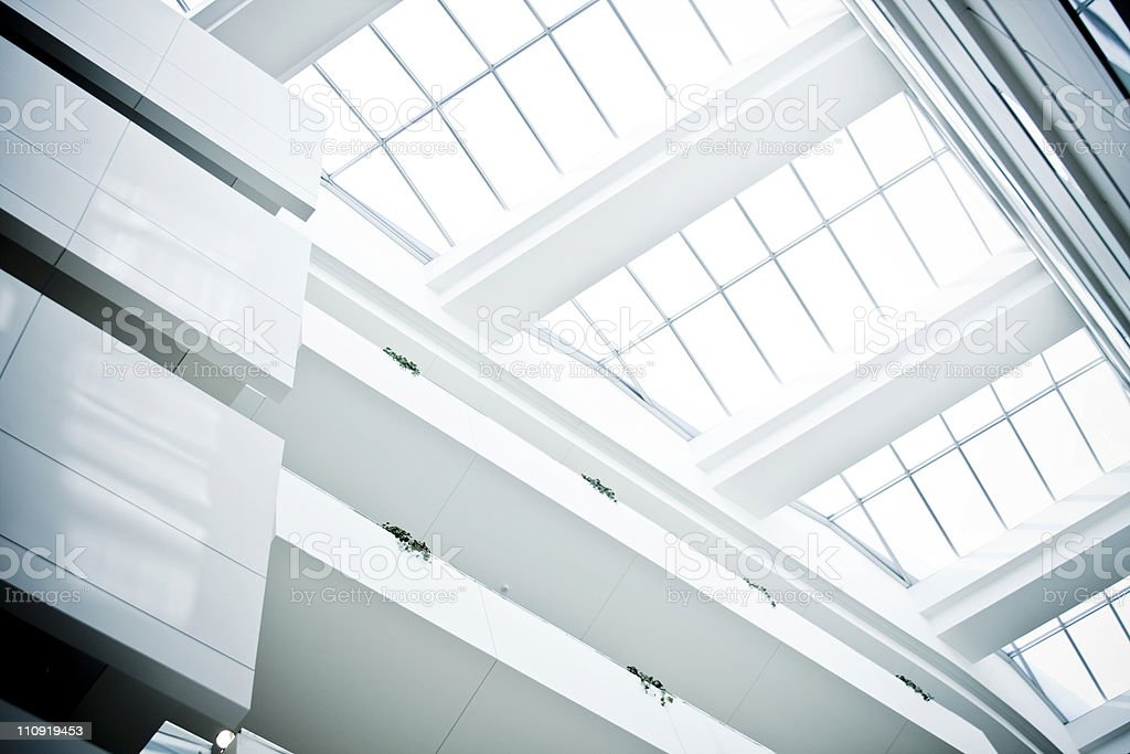 Modern building glass ceiling royalty-free stock photo