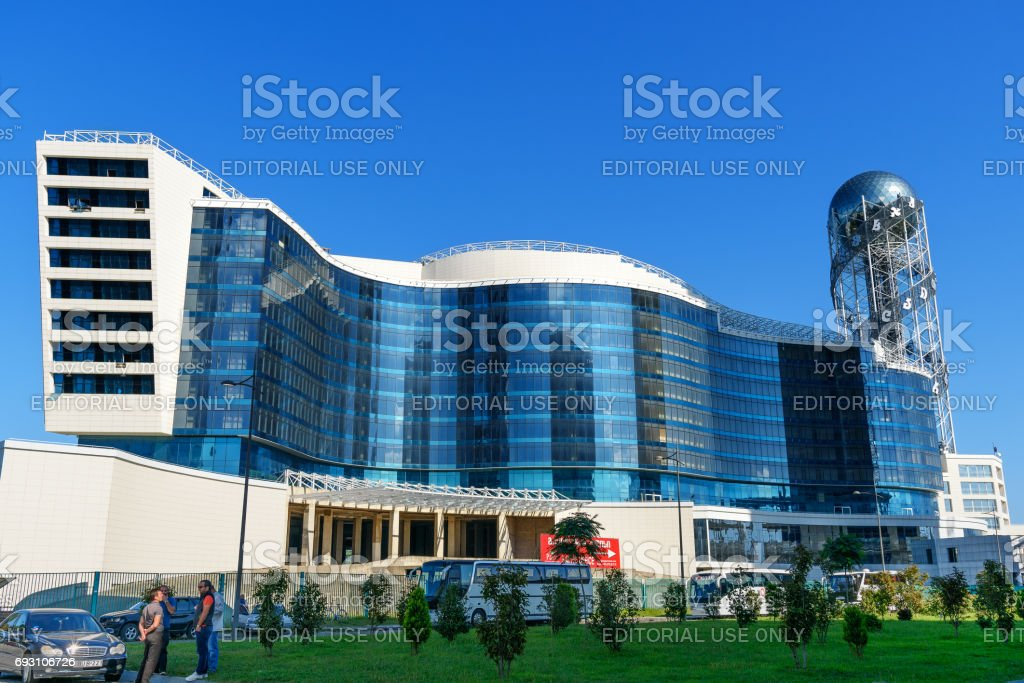 Modern building Grand Hotel Kempinski in Batumi. Georgia stock photo