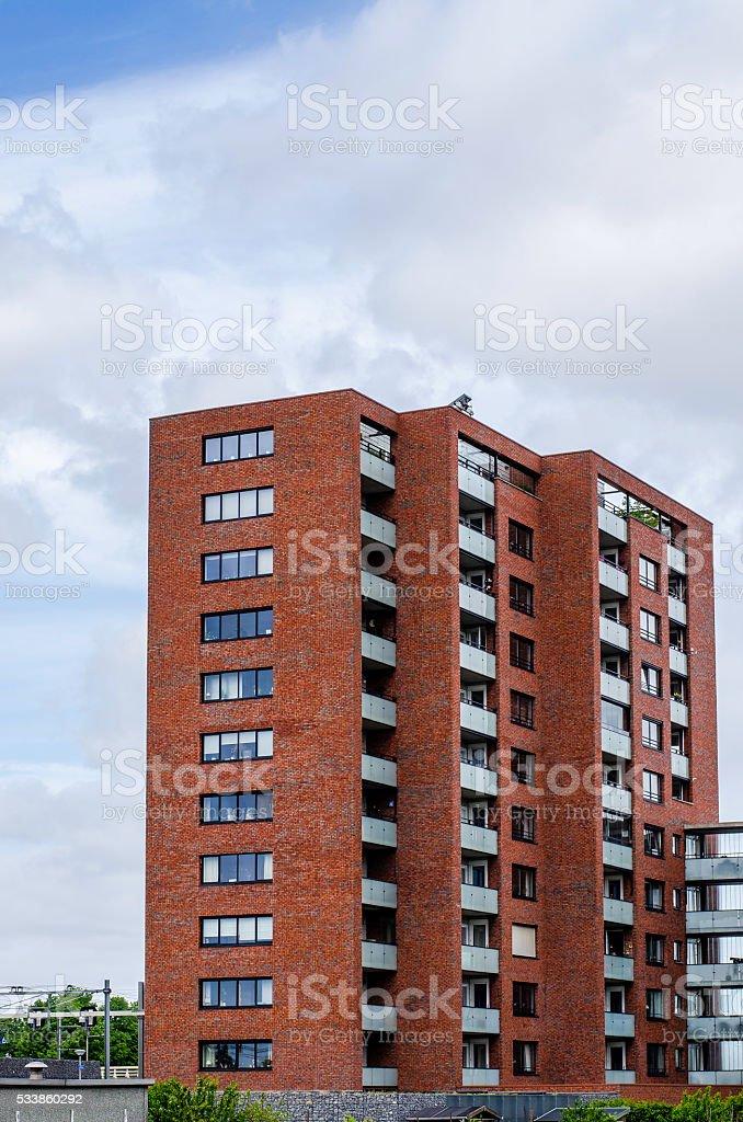Modern building in Amersfoort stock photo