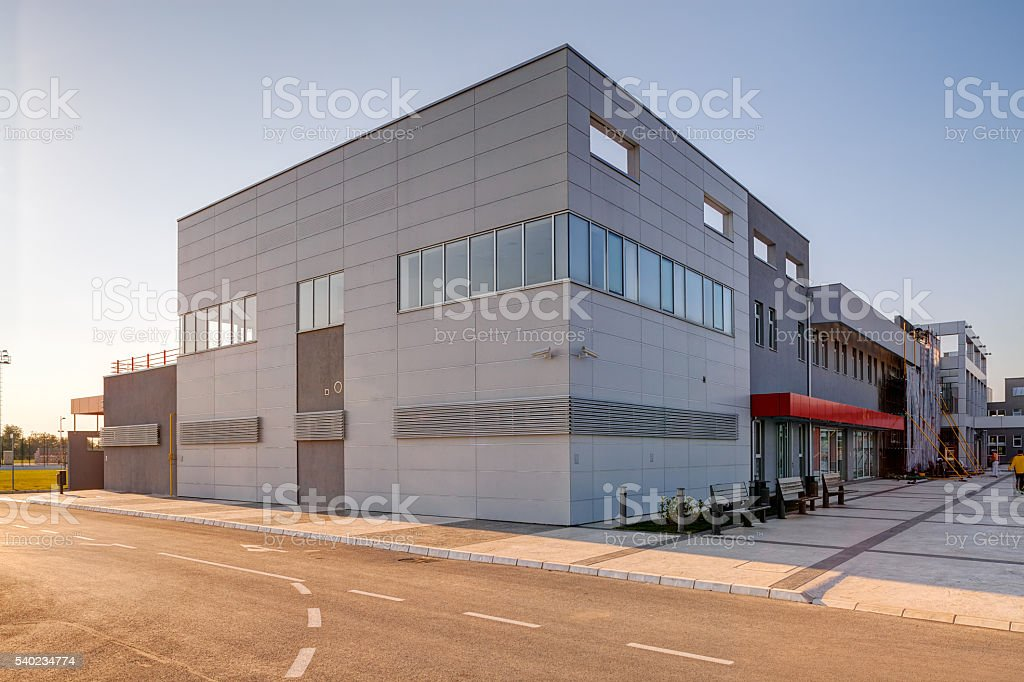 Modern building in exterior stock photo