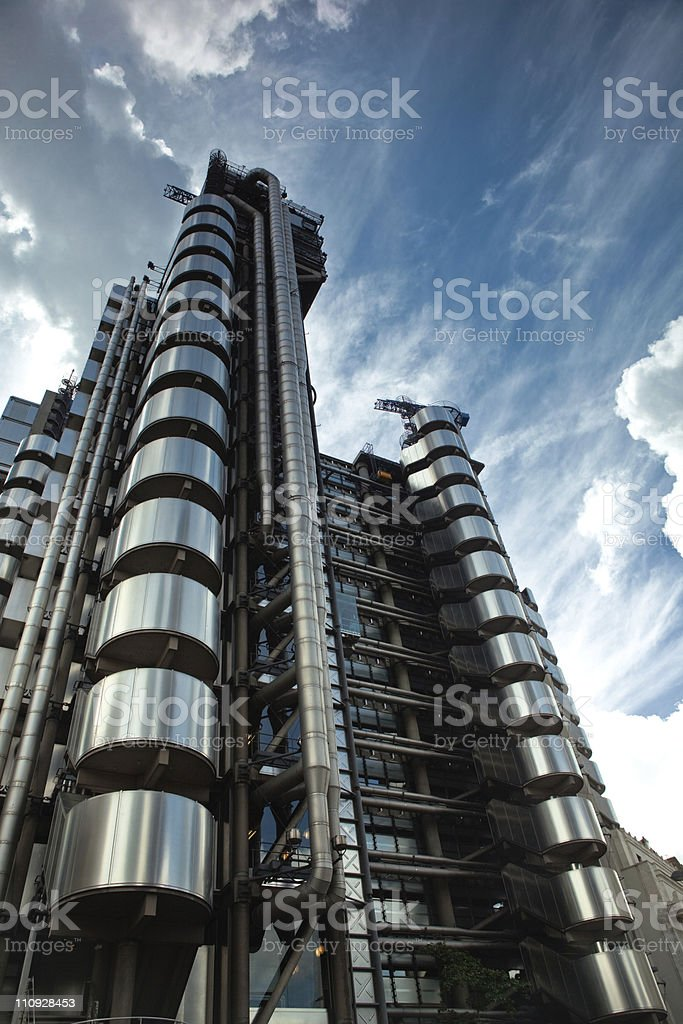 Modern building in London stock photo