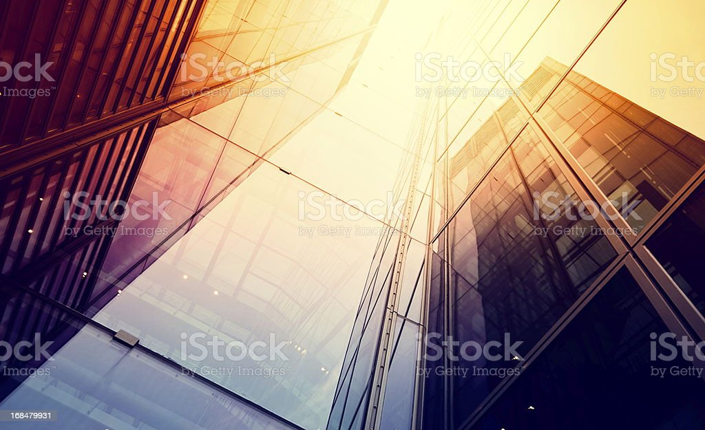 Modern building in sunlight stock photo