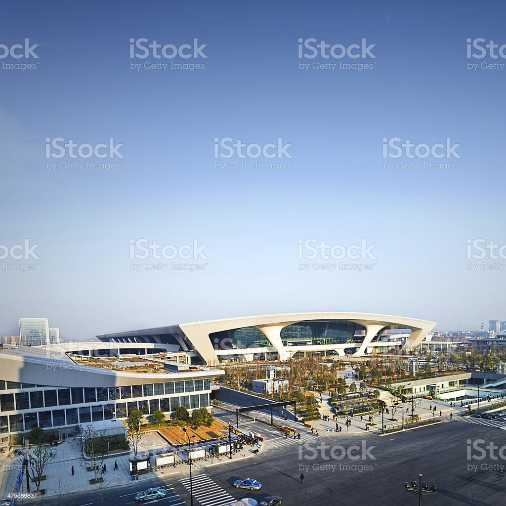 modern building in the city stock photo