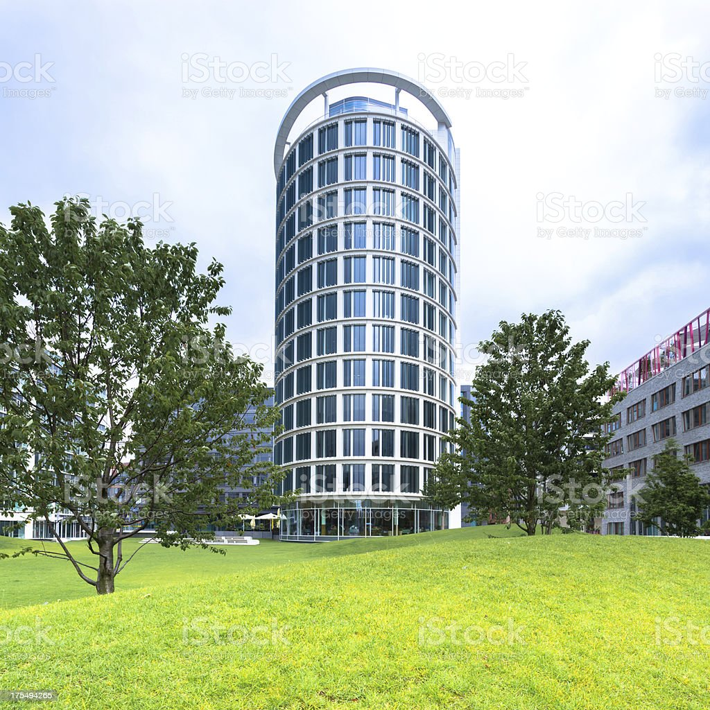 Modern building in the HafenCity royalty-free stock photo