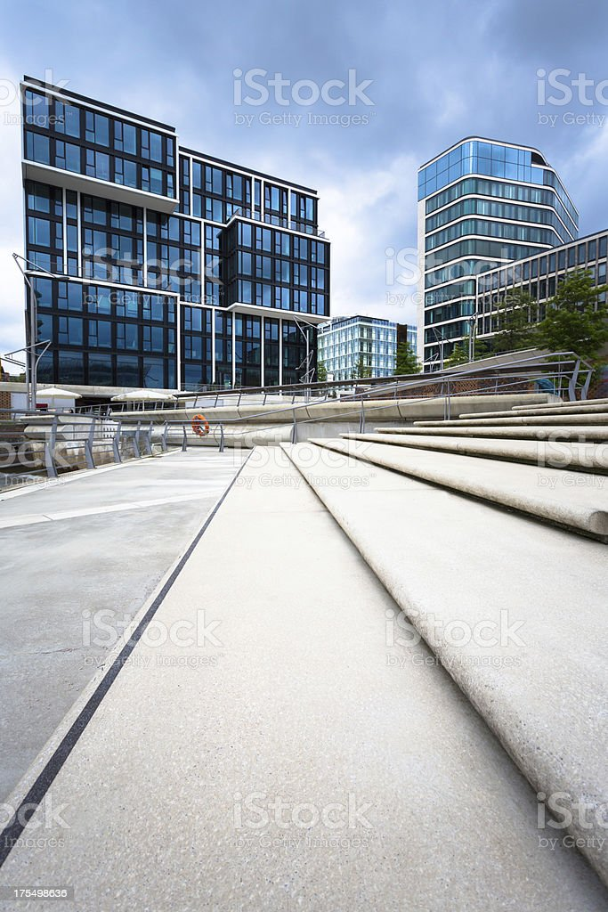 Modern building in the HafenCity stock photo