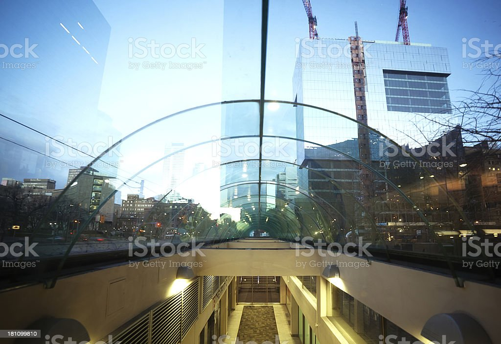 Modern building in Toronto downtown royalty-free stock photo