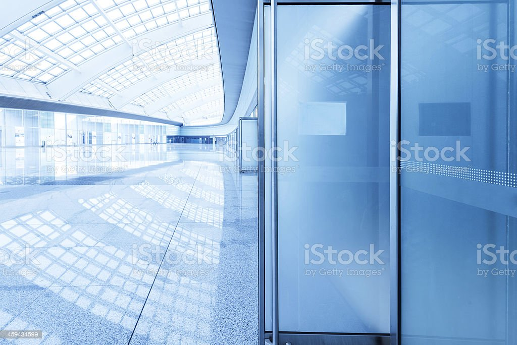 Modern building interior, luxurious lobby. stock photo