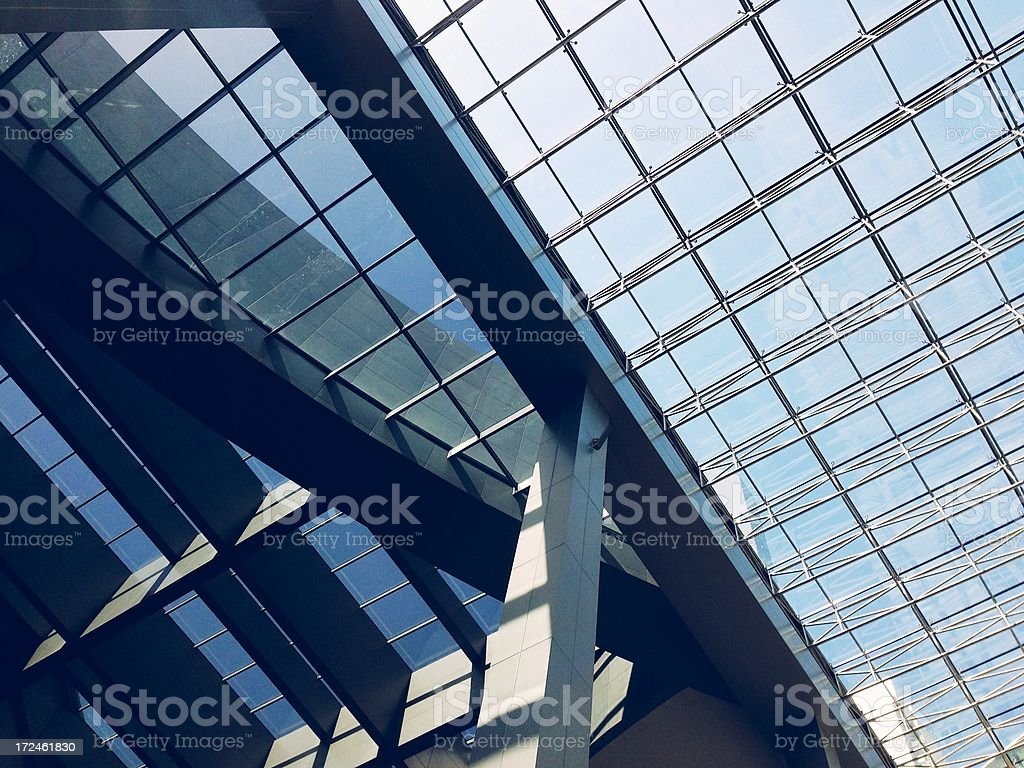 Modern building interior royalty-free stock photo