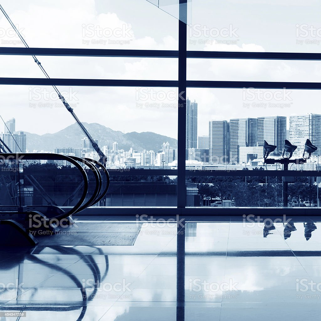 modern building interior royalty-free stock photo