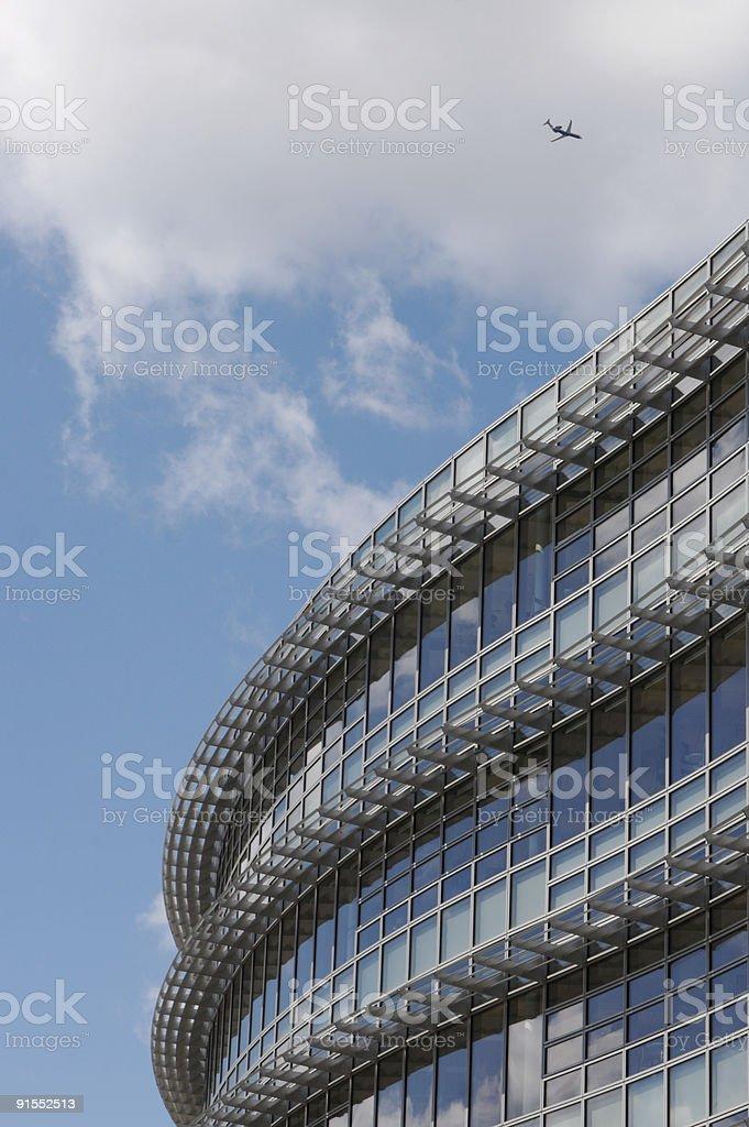 Modern Building & Jet royalty-free stock photo