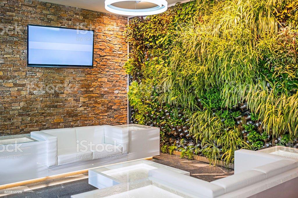 Modern Building Lobby stock photo