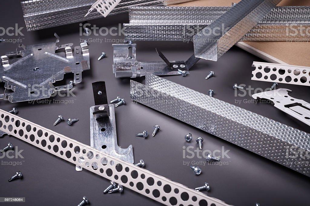Modern building materials stock photo