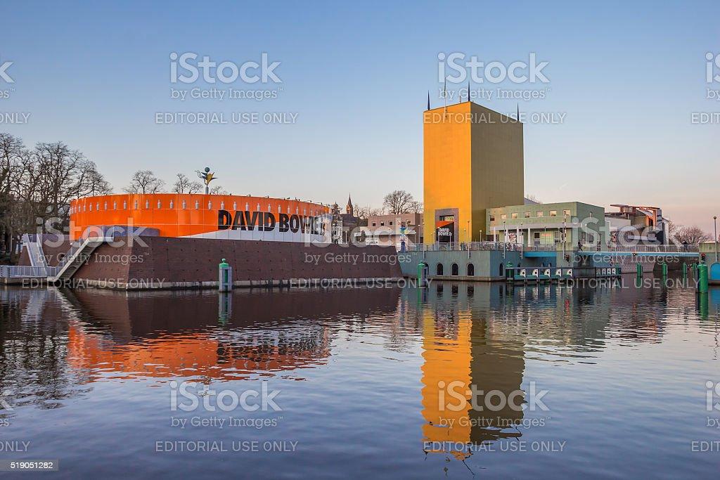 Modern building of the Groningen museum stock photo