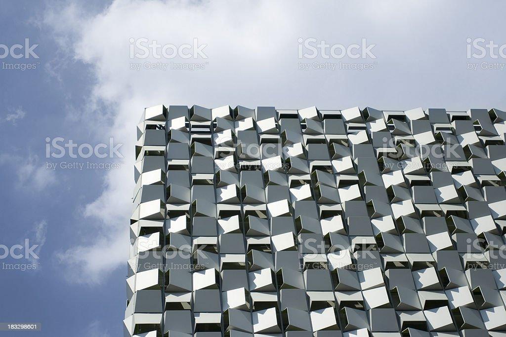 Modern building on the skyline, Sheffield, UK stock photo