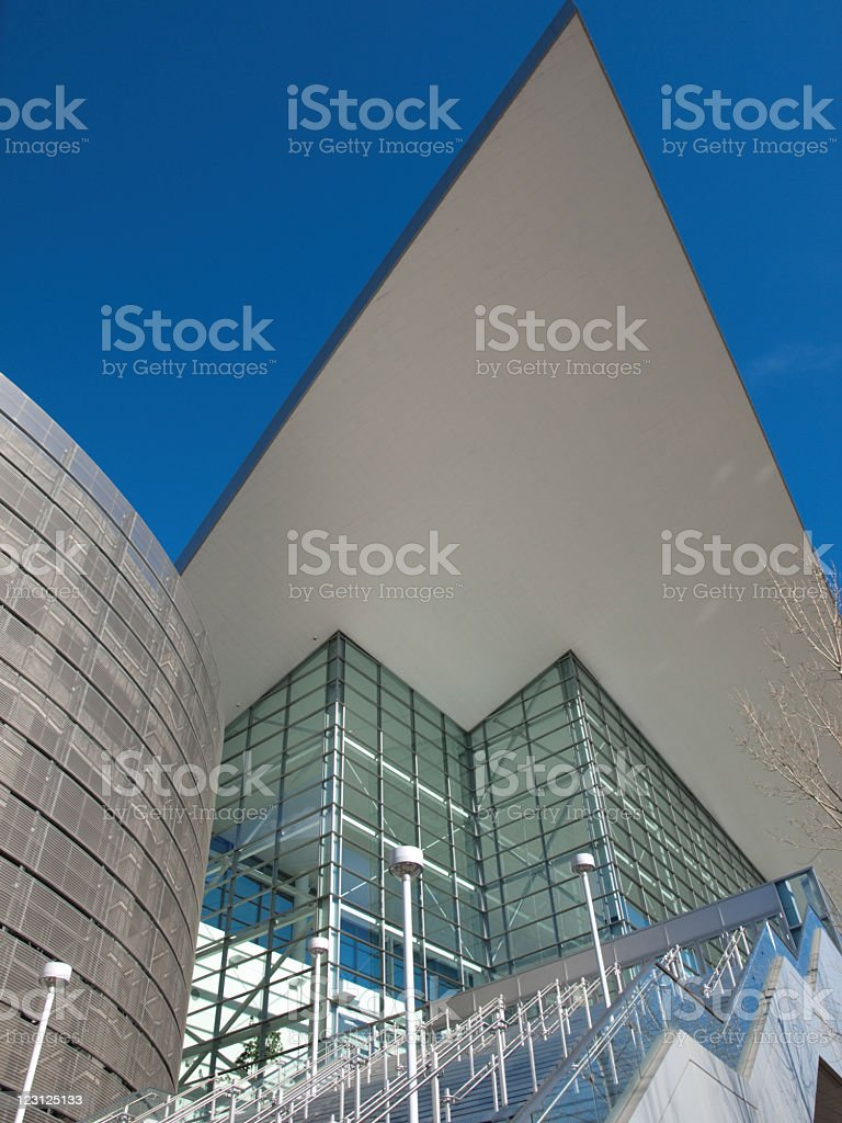 Modern building, Steel and glass stock photo