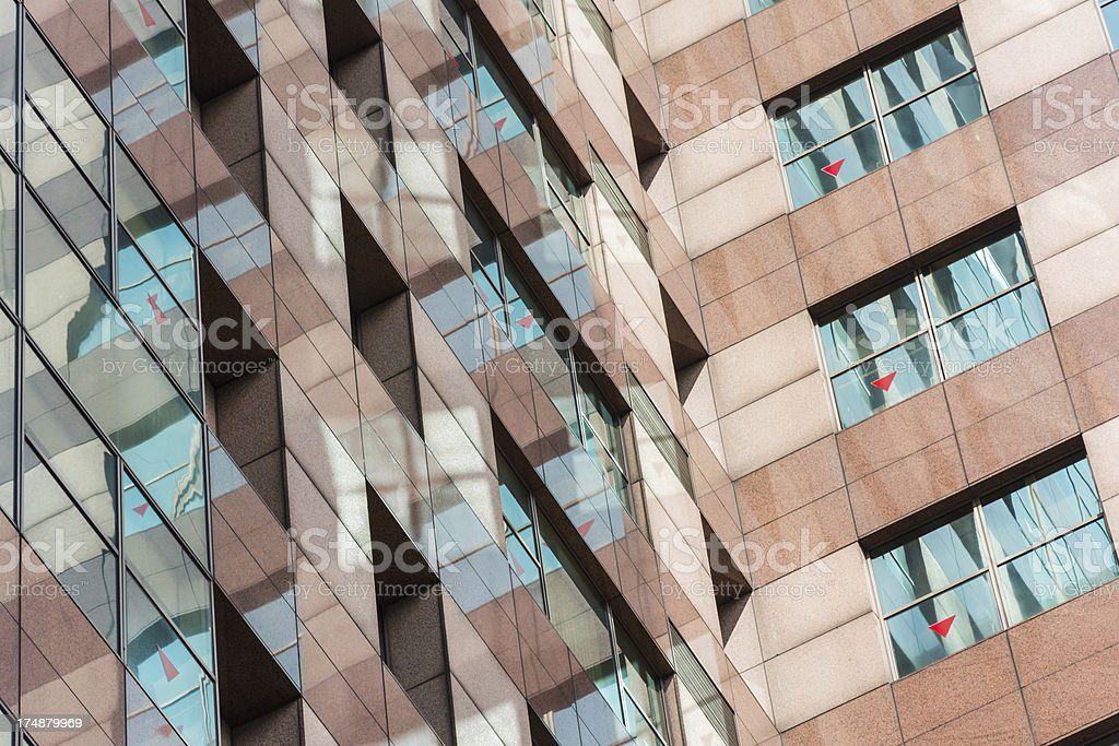modern building wall royalty-free stock photo