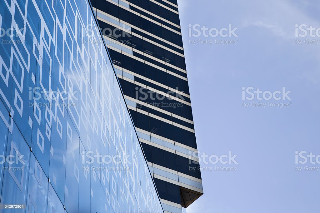 Modern Building with blue sky. stock photo