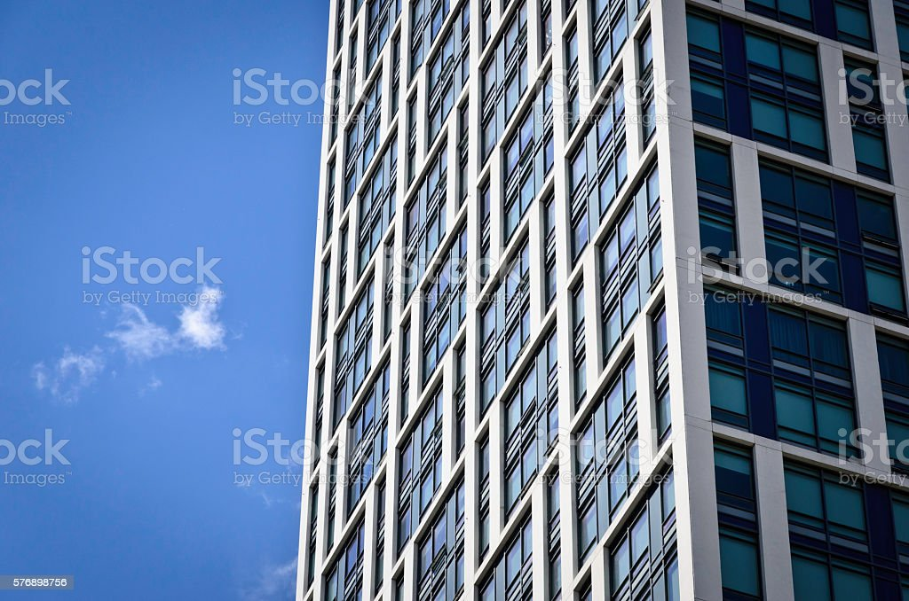 Modern building with bright blue sky in the background royalty-free stock photo