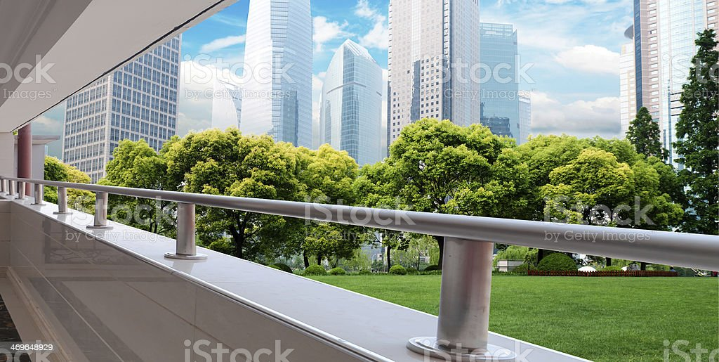 modern building with cloud stock photo