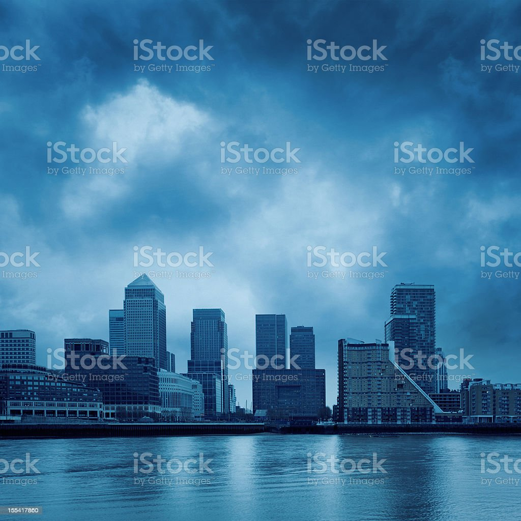 modern buildings at dusk royalty-free stock photo